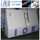 Koude Merchandiser van het Ijs van het Systeem van de Muur Bak van de Opslag van het Ijs vt-400