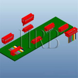разъем спички 1.27mm IDC микро- с кабелем тесемки