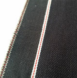 tela 14012 da sarja de Nimes do Selvedge do estiramento do preto do Slub 12oz