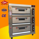 Bakery Equipment 3-Deck 9-Tray gaz Four à Pizza
