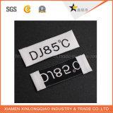 Pas het Afgedrukte Etiket van de Sticker van de Dienst van de Druk van het Kledingstuk Markering Geweven Kledende aan