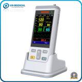 Tier-/Tierarzt-Verbrauch-bewegliches Handimpuls-Oximeter mit Funktionen Temp+SpO2