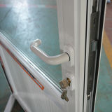 Porte en aluminium du tissu pour rideaux Kz352 avec la glace triple et le panneau en aluminium composé