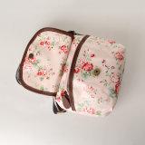 Sacs floraux roses imperméables à l'eau de Crossbody de sacs à main de toile de PVC de mode (99072)