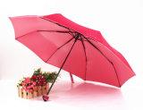 휴대용 방수 접히는 우산에 의하여 세 배 접히는 연장 우산 Sy044