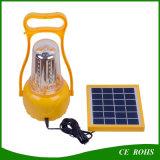USB solar de acampamento solar da lâmpada Emergency da lanterna do diodo emissor de luz da função cheia recarregável com cabos