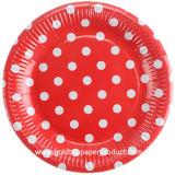 Partido de papel del vajilla de las placas disponibles redondas disponible
