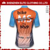 Kundenspezifische Männer schließen Hülsen-Fahrrad-Jersey-Abnützung kurz