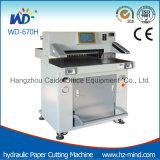 Máquina de estaca de papel hidráulica de papel do cortador do fabricante profissional (WD-670H)