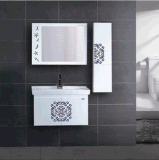 Pavimento caldo moderno di disegno di più nuovo effetto 2016 che si leva in piedi vanità della stanza da bagno del PVC (BC-061)