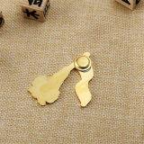 Kundenspezifisches Goldabzeichen-Emblem mit Papierkarten-Schutzträger