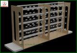 Estante de madera echado a un lado doble económico del supermercado (JT-A30)