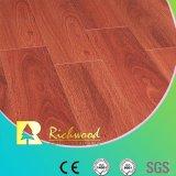 商業ビニール12.3mm E0 HDF AC4の光沢度の高い寄木細工の床の積層物の木製の木のフロアーリング