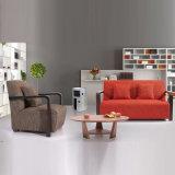 熱い販売の新しいデザインホーム家具ファブリック木のソファー