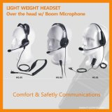 Large Ptt (RHS-1030)との対面Radio Lightweight Headset