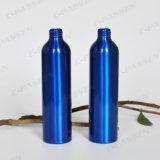 Голубая алюминиевая бутылка лосьона с черным пластичным насосом лосьона (PPC-ACB-019)