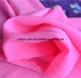Ткань 100% Tulle полиэфира красная шифоновая для платья