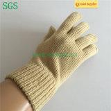 単一層のアクリルの編まれた5本の指の手袋