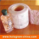 La alta calidad modificó la escritura de la etiqueta impresa de la etiqueta engomada para requisitos particulares
