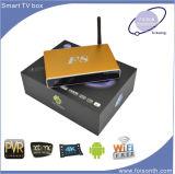 4D Google IPTV androider intelligenter Kasten Fernsehapparat-Wi-FI mit Vierradantriebwagen-Kern