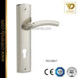 Quincaillerie de porte Fermeture de poignée en aluminium sur plaque de fer
