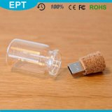 Gift Boxの卸し売り2GB/4GB/8GB/16GB Wooden Glass Drift Bottle USB Flash Drive