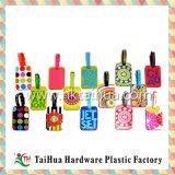 Tag colorido da bagagem do PVC do plástico do OEM com Thx-001