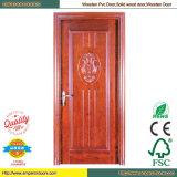 Gemalte hölzerne Tür-rote hölzerne Tür-Kirschholz-Tür