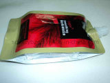 口が付いているプラスチック包装袋を密封している4側面
