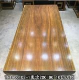A tabela de jantar de madeira africana de Rosa ajustou-se com borda reta (SD-035)