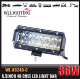 barra chiara del CREE 7inch 36W LED dell'obiettivo 4D per il camion