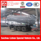3 반 차축 22cbm 기름 진흙 진공 탱크 흡입 트레일러