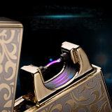 USB de cobre puro del pulso del arco que carga el alumbrador ambiental del cigarrillo