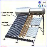2016 nenhum calefator de água solar do aço inoxidável da pressão