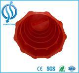 Tambor amonestador de la seguridad blanca roja reflexiva plástica
