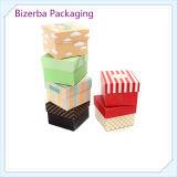 Caja de papel impresa promocional del regalo de la cartulina
