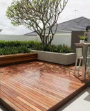Foshan Merbau Outdoor Real Wood Floor