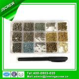 Micro vite d'acciaio placcata zinco
