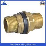 Conector de cobre amarillo del tanque con los extremos de cuerda de rosca masculina (YD-6020)
