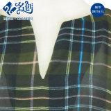 Кофточка повелительниц втулки зеленой шотландки V-Neckline свободной длинняя
