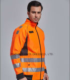 Workwear куртки безопасности видимости зимы высокий