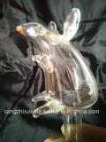 Pipe de fumage en verre animale neuve