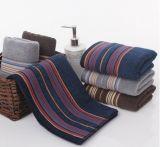 De Handdoek van het Gezicht van de katoen garen-Geverfte Mensen van de Handdoek van het Zand van Ab Donkere