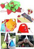 Sacos de compra Foldable do presente do saco da morango reusável do nylon Bw1-080/poliéster
