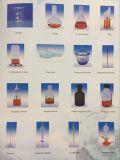 Laborbernsteinfarbige Borosilicat-Glasreagensflasche mit Überwurfmutter-Glaswaren