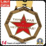 Die Casting plateado bronce medalla de recuerdo de la antigüedad