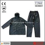 印刷されたメンズポリエステル防水PVC雨スーツ