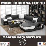 O americano projeta o sofá do couro da forma de U para a sala de visitas