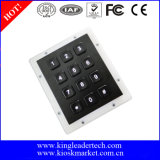 コネクターのドアのアクセスのためのバックライトが付いている任意選択12の黒いキーのキーパッド