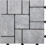 PEベースが付いている屋外の連結のフロアーリングの自然な石DIYのTravertineの平板のモザイク庭のタイル